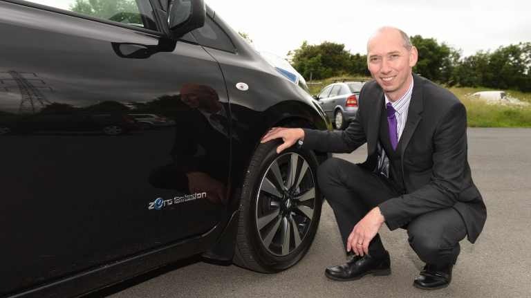 Manager with electric vehicle